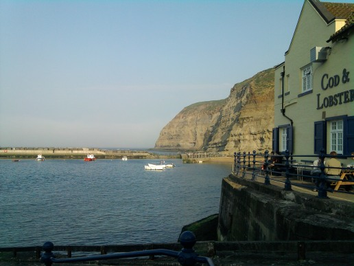 Cottages in Staithes Pubs. The Cod and Lobster, North Yorkshire Coast