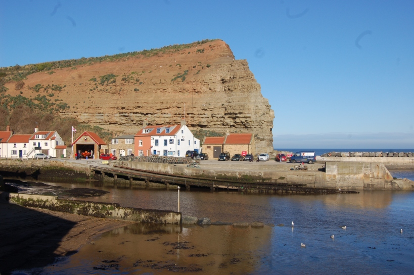 Cottage in Staithes. Staithes Lifeboat Station
