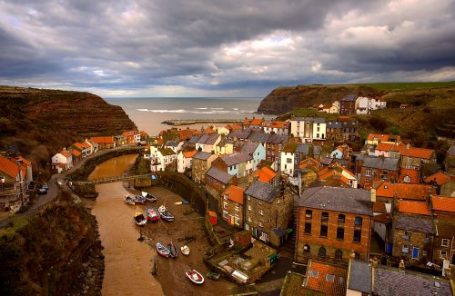 Cottages in Staithes North Yorkshire Coast